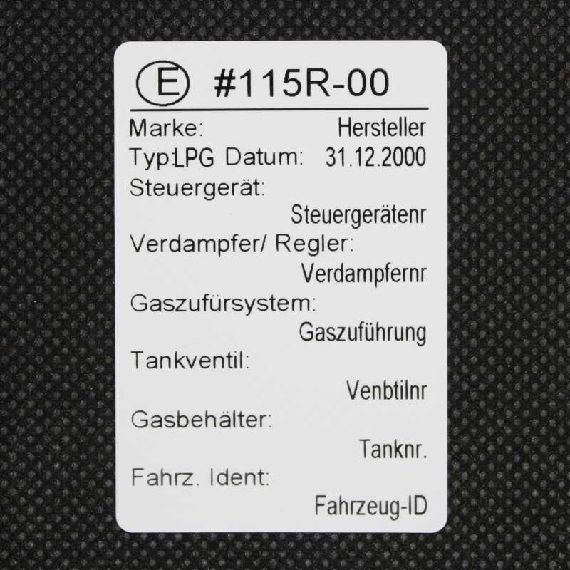 PE_6040_LPG - Das LPG Etikett für Ihre Hauptuntersuchung von psmz.de