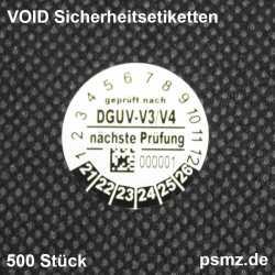 DGUV Prüfplakette 20mm 2D...